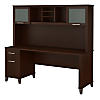 72W Office Desk with Hutch