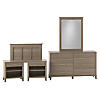 Twin Size 5 Piece Bedroom Set