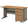 60W Desk with Mobile File Cabinet