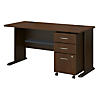 60W X 27D Desk with 3Dwr mobile Pedestal