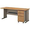 72W Desk with Mobile File Cabinet