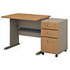 36W Desk with Mobile File Cabinet