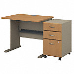 36W X 27D Desk with 3Dwr Mobile Pedestal