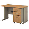 48W Desk with Mobile File Cabinet