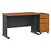 48W Desk with Mobile File Cabinet