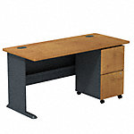 60W Desk with 2Dwr Mobile Pedestal (Assembled)