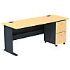 Desk with 2 Drawer Mobile Pedestal