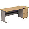 72W Desk with 2Dwr Mobile Pedestal (Assembled)