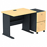 36W Desk with 2Dwr Mobile Pedestal (Assembled)