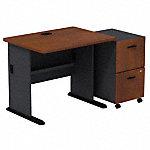 Desk with 2 Drawer Mobile Pedestal