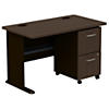 48W Desk with 2Dwr Mobile Pedestal (Assembled)
