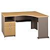Single 2 Drawer Pedestal Corner Desk