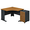 Corner Desk with 2 Drawer Mobile Ped