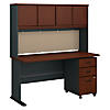 60W Desk with Hutch and Mobile File Cabinet
