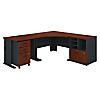 48W Corner Desk with 36W Return and Storage