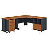48W Corner Desk with 36W Return and Storage
