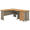 Right Handed L Shaped Desk and Mobile File Cabinet