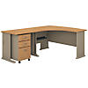 Left Handed L Shaped Desk and Mobile File Cabinet