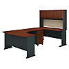 Right Handed U Shaped Desk, Hutch and Mobile File Cabinet