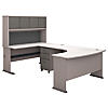 Left Handed U Shaped Desk, Hutch and Mobile File Cabinet