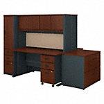 2 Person 60W Desk, Hutch, File Storage and Lockers