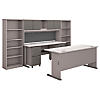 72W Desk and Credenza with File Storage and Bookcases