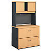 36W 2 Drawer Lateral File and Hutch