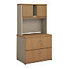 36W Lateral File Cabinet with Hutch