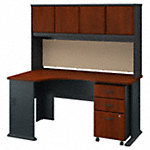 Left Corner Desk with Hutch and Mobile File Cabinet