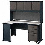 Left Corner Desk with Hutch and Mobile File Cabinet