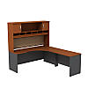 Right Handed Corner L Shaped Desk with Hutch