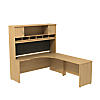 72W x 24D RH Corner Desk with Hutch