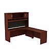 72W x 24D RH Corner Desk with Hutch