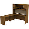 72W x 24D LH Corner Desk with Hutch