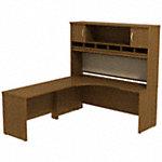 72W x 24D LH Corner Desk with Hutch
