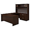 72W Right Handed Bow Front U Shaped Desk with Storage