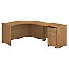 Right Handed L Shaped Desk with Mobile File Cabinet