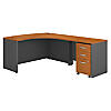 60W x 43D RH L-Desk with 3Dwr Mobile Pedestal