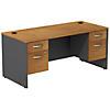 Desk with (2) 3/4 Pedestals