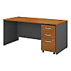 66W x 30D Shell Desk with 3Dwr Mobile Pedestal