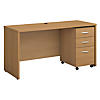 60W x 24D Office Desk with Mobile File Cabinet