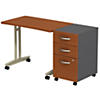 Adjustable Height Mobile Table with 3 Drawer Mobile Pedestal