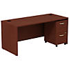 66W x 30D Shell Desk with 2Dwr Mobile Pedestal