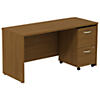 60W x 24D Credenza Shell Desk with 2Dwr Mobile Pedestal