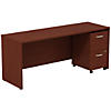 72W x 24D Credenza Shell Desk with 2Dwr Mobile Pedestal