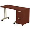 Adjustable Height Mobile Table with 2Dwr Mobile Pedestal