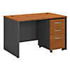 48W x 30D Office Desk with Mobile File Cabinet