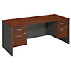 72W x 30D Desk with 2 Pedestals