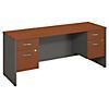 72W x 24D Desk Credenza with 2 Pedestals
