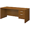 72W x 30D Office Desk with 3/4 Pedestal